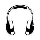 Headphones pictogram icon image Stock Photography