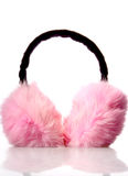 Headphones Pink Fur Royalty Free Stock Photos