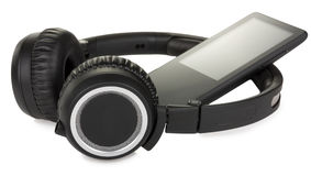 Headphones with player Royalty Free Stock Photo