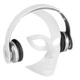 Headphones player carnival mask Stock Image