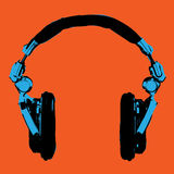 Headphones Pop Art vector Stock Photography