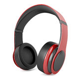 Headphones red Royalty Free Stock Images