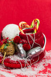 Headphones and red shoes best Christmas gift. Stock Images