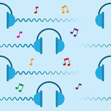Headphones Repeated Royalty Free Stock Photos