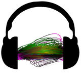 Headphones scribble music Royalty Free Stock Photos