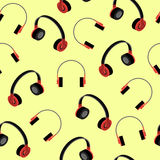 Headphones seamless pattern. Vector Illustration Royalty Free Stock Photos