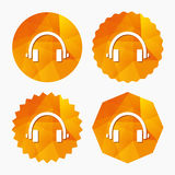 Headphones sign icon. Earphones button. Royalty Free Stock Image