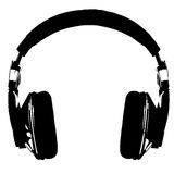 Headphones silhouette Stock Photo