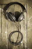 Headphones on simple background Royalty Free Stock Photo