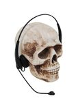 Headphones on a skull Royalty Free Stock Image