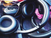 Headphones for Sound Recorder Stock Images