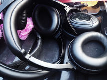 Headphones for Sound Recorder Stock Photography