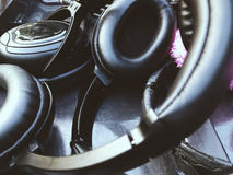 Headphones for Sound Recorder Stock Photos