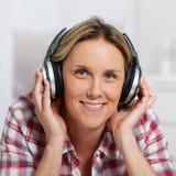 Headphones square Stock Photography