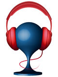 Headphones on support Royalty Free Stock Image