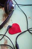 Headphones symbol Valentine Stock Image