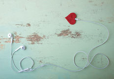 Headphones symbol Valentine Stock Photography
