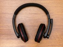 Headphones on the table Royalty Free Stock Image