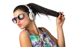 Headphones Teenager Royalty Free Stock Photo