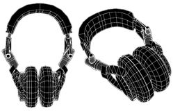 Headphones Vector 01. Stereo Headphones Isolated Illustration Vector Royalty Free Stock Images