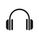 Headphones vector icon Royalty Free Stock Photography