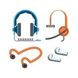 Headphones vector set. Royalty Free Stock Photography