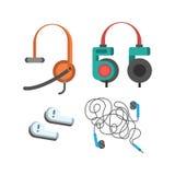 Headphones vector set. Stock Image