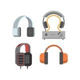 Headphones vector set. Royalty Free Stock Image
