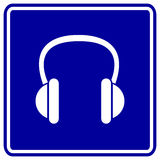 Headphones vector sign Royalty Free Stock Photos
