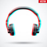 Headphones with visual stereo effect Royalty Free Stock Photos