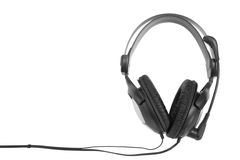 Headphones on white Royalty Free Stock Photo