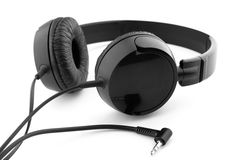 Headphones on a white Royalty Free Stock Photo