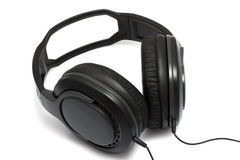 Headphones  on white background Royalty Free Stock Images