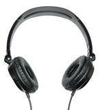 Headphones on a white background. Headphones of black color on a white background Royalty Free Stock Image