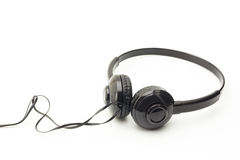 Headphones on white background Royalty Free Stock Photography