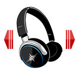 Headphones on white background. Stock Photography
