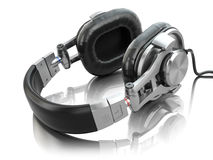 Headphones  on white background. Royalty Free Stock Images