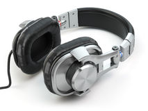 Headphones  on white background. Stock Photos