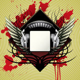 Headphones and wings Royalty Free Stock Photos