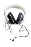 Headphones with wire Stock Photos