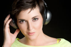 Headphones Woman Royalty Free Stock Photo