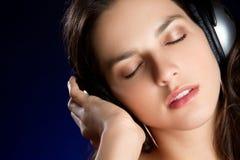 Headphones Woman Stock Photos