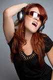 Headphones Woman Royalty Free Stock Image
