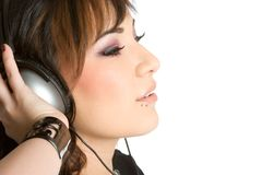 Headphones Woman Stock Photos