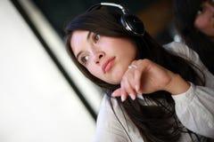 headphones woman Στοκ Εικόνες