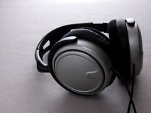 Headphones03. Silver headphones Stock Photography