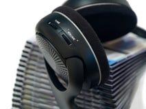headphones2 ραδιόφωνο Στοκ Φωτογραφίες