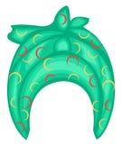 Headpiece f?mea para a mulher, turbante Len?o verde feito malha brilhante Roupa bonita e ? moda nacional Ilustra??o do vetor ilustração stock