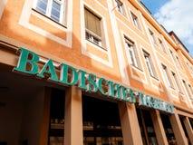 Headquareter Badische Tagblatt in Deutschland Stockfotos