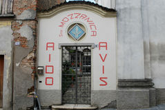 Avis Aido headquarter. Headquarter of Avis and Aido organizations - Mozzanica, Bergamo, Lombardy, Italy Royalty Free Stock Photo